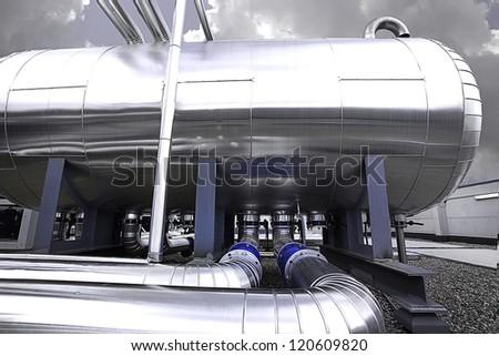 tubes machine - stock photo