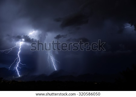 Tucson Lightning - stock photo