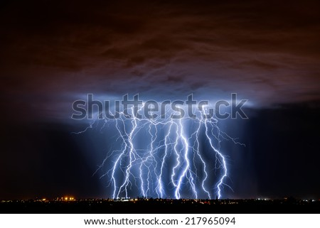 Tucson Lightning Composite - stock photo