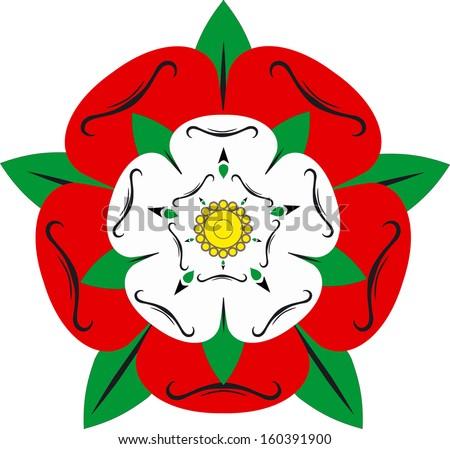 Tudor rose - Illustration - stock photo