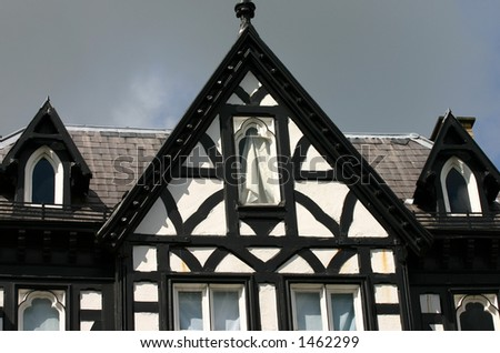 Tudor style house in Chester UK - stock photo