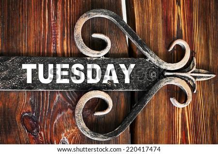 Tuesday  - stock photo