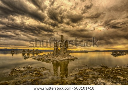 Tufa at sunrise
