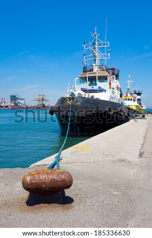 Tug ship - stock photo