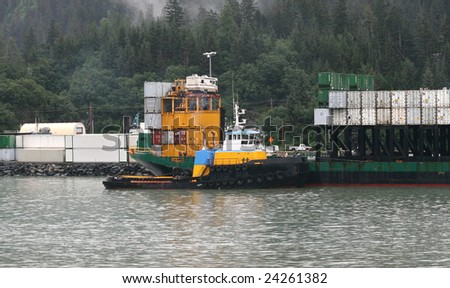 Tugboat & Barge, Whitter Alaska