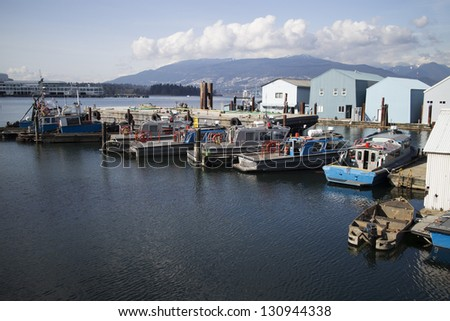 tugboat corral in burrard inlet