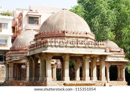 Tughlaq period tombs at Hauz Khas Complex, New Delhi - stock photo