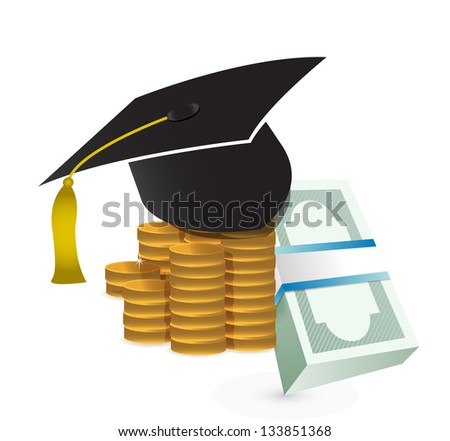 tuition fee. education costs concept illustration design over white