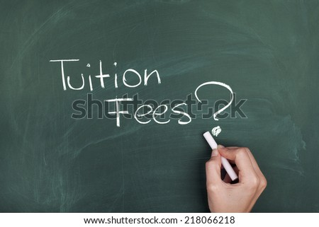 Tuition Fees - stock photo