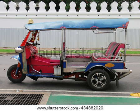 Tuk Tuk Thailand Car Scooter - stock photo