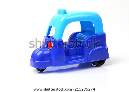 tuk tuk toy isolated on white background  - stock photo