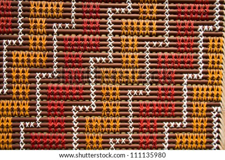 Tuku Tuku panel, Maori art. - stock photo