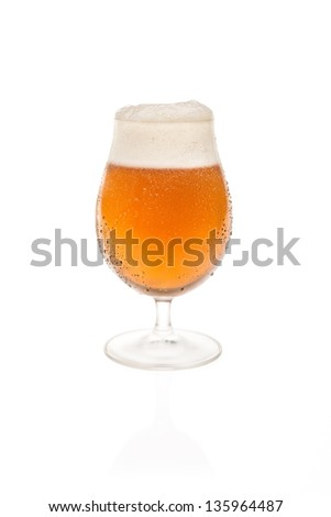 Tulip Glass With Belgium Beer