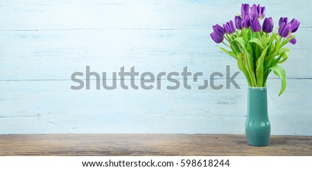 tulip on the bright background