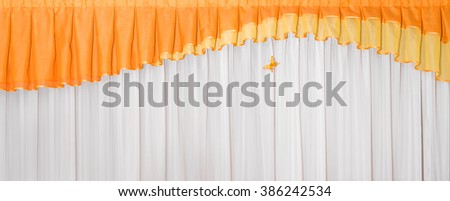 Tulle curtains for window  - stock photo
