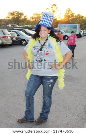 TULSA, OK - OCT 20: Oktoberfest goers enjoy a day at Oktoberfest in TULSA, OK, on October 20, 2012 in TULSA, OK. Tulsa is the origin of the first Oktoberfest Chicken Dance in the United States. - stock photo