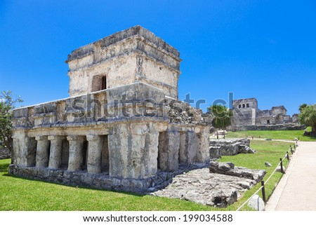 Tulum, archeological site in the Riviera Maya, Mexico - stock photo