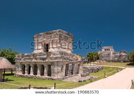 Tulum Mayan Ruin - stock photo