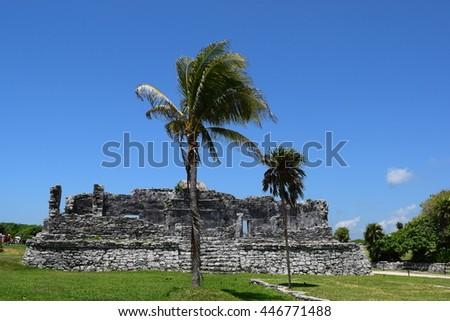 Tulum ruins, Mexico - stock photo