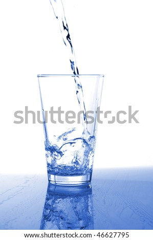 tumbler or cup of fresh ice water