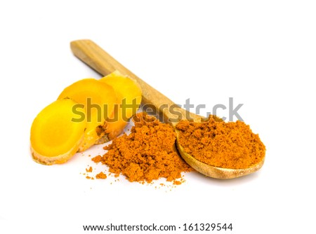 Tumeric is a Spice that Supports Your Body's Astonishing Immune System and antioxidant. - stock photo