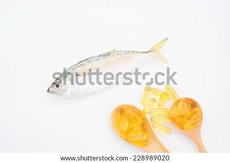 Tuna and fish oil. - stock photo