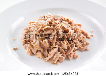 tuna fish closeup - stock photo
