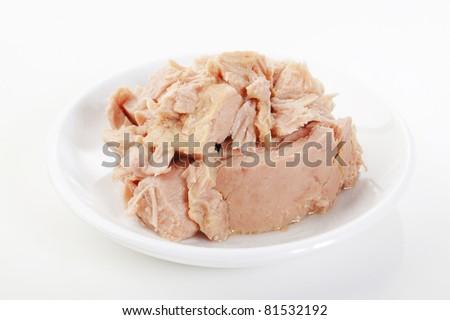 tuna in a bowl - stock photo