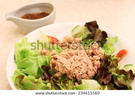 Tuna Salad, healthy food for diet - stock photo