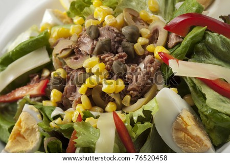 tuna salad nicoise - stock photo