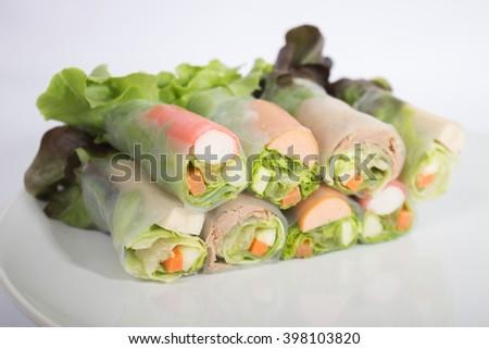Tuna salad roll - stock photo