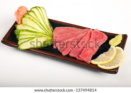 tuna sushi - stock photo