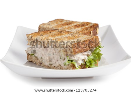 Tuna Whole Wheat Sandwich - stock photo