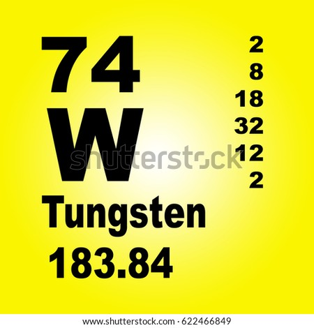 Tungsten periodic table elements stock illustration 622466849 tungsten periodic table of elements urtaz Image collections
