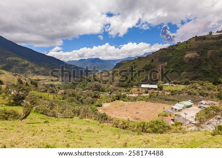 Tungurahua, One Of Ecuador Most Active Volcanoes, Is Made Up Of Three Volcanic Edifices, South America  - stock photo