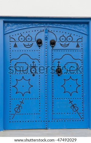 Tunis Medina Door - stock photo