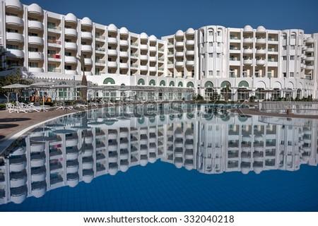 TUNISIA, AFRICA - August 02, 2012: View of Hotel Hammamet in Hammamet. - stock photo
