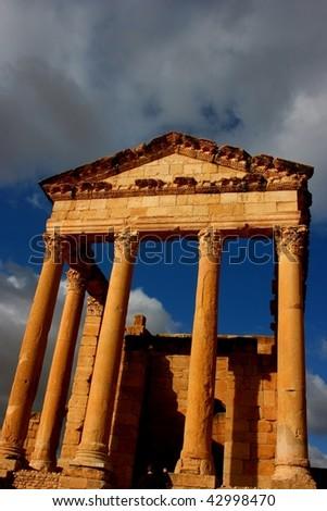 Tunisia. Ancient Sufetula (present day Sbeitla) - stock photo