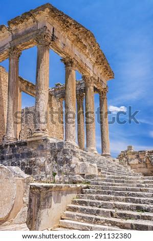 Tunisia, Dougga, Roman Temple - stock photo