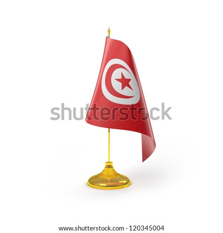 Tunisia Flag Detail Render - stock photo