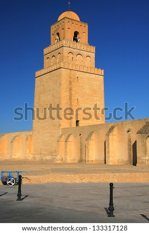 Tunisia, Kairouan minaret - stock photo