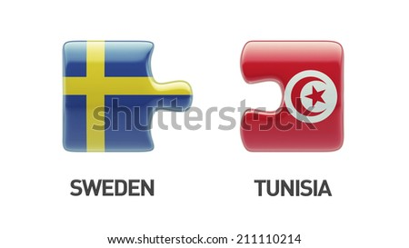 Tunisia Sweden High Resolution Puzzle Concept