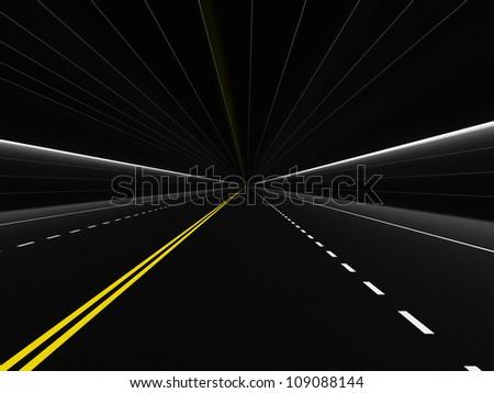 tunnel - stock photo