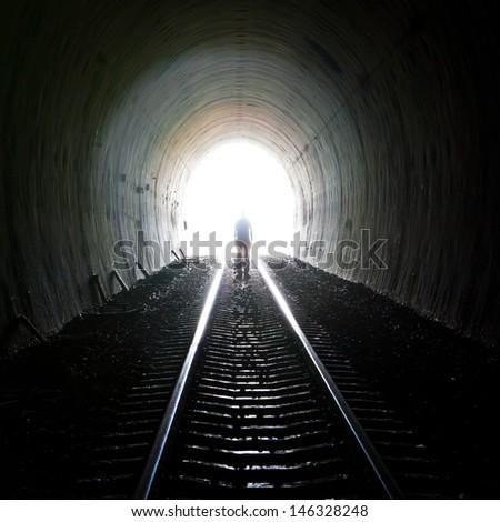 Tunnel light . - stock photo