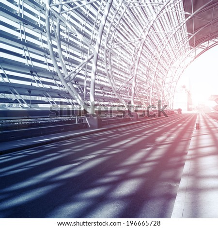 Tunnel passage in China - stock photo