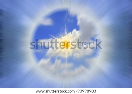 Tunnel sky surfing speed. - stock photo