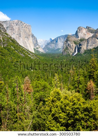 Tunnel View at Yosemite National Park - stock photo