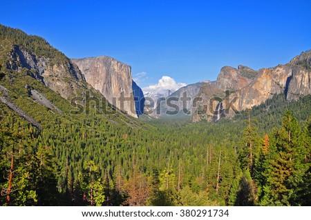 Tunnel View,, Yosemite National Park, USA - stock photo