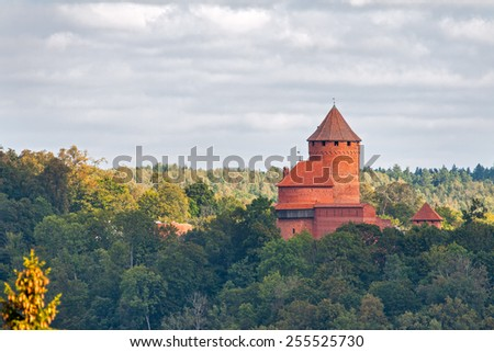 Turaida castle in Sigulda, Latvia - stock photo