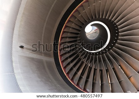 turbine blades of an aircraft jet engine.